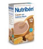 NUTRIBEN CACAO CON GALLETAS MARIA 600GR
